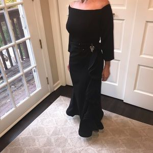 Runway Couture custom gown black 12